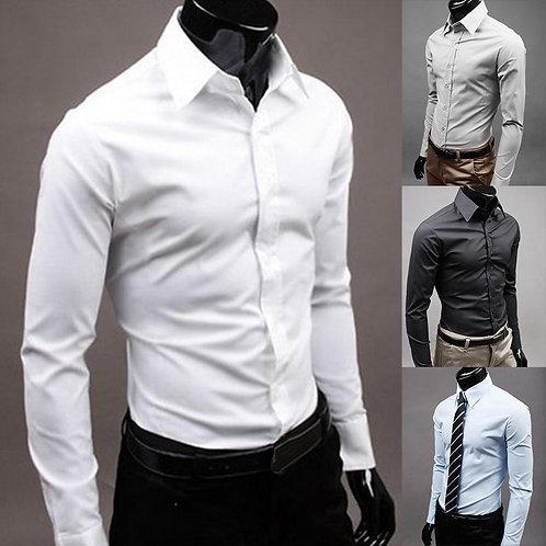 Chemises hommes à manches longues/ chemise couleur unie