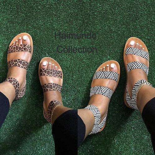 Femmes Sexy léopard sandales 2020 été imprimé plate-forme femme chaussures