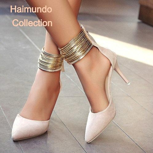 Haimundo Collection 2020 femmes sandale cheville hauts talons minces bout pointu