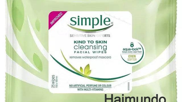Lingettes nettoyantes pour le visage Simple Kind to Skin, 25 pièces