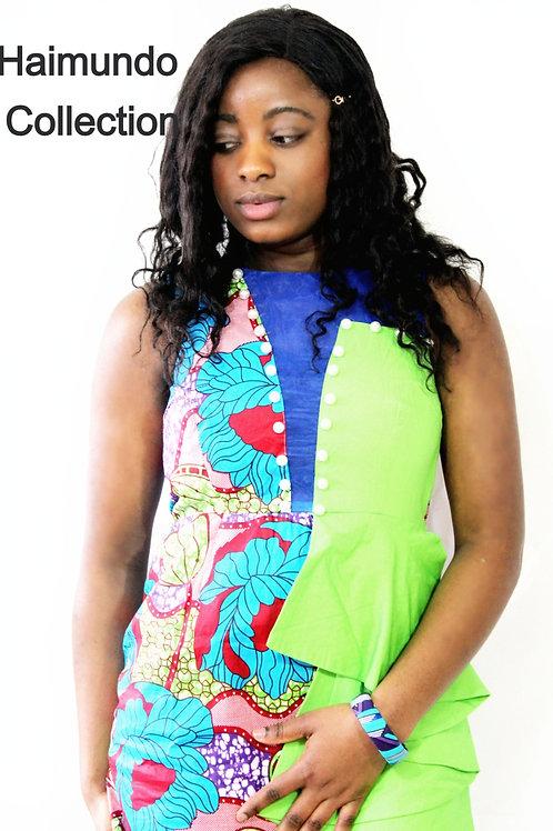Robe africaine, tenue classique imprimé en cire