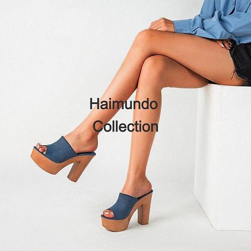 À la mode en bois Super talons hauts femmes sandales plate-forme chaussures