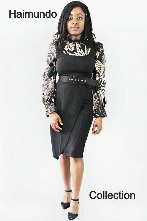 Robes noir avec une ceinture