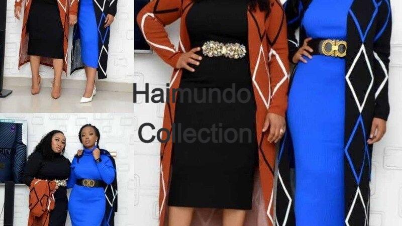 2 Pièces ensemble robes africaines pour femmes automne hiver mode africaine
