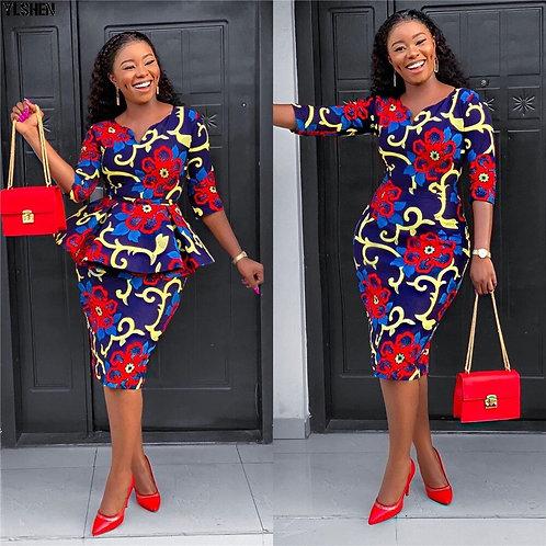 Robes africaines pour femmes / 2 pièces imprimés