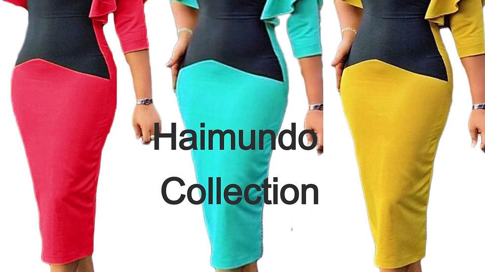 Robes africaines pour femmes vêtements africains afrique bureau Midi robe crayon