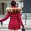 Thumbnail: Longue veste femme manteau chaud veste d'hiver à capuche avec col en fourrure