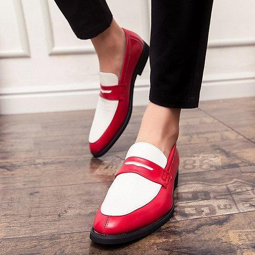 Chaussures habillées pour hommes en cuir PU élégant