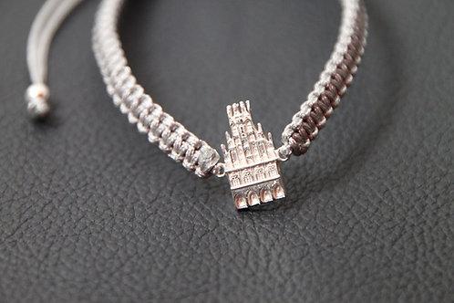 Münster-Armband (Motiv Rathaus-925er Sterling-Silber) Band in silbergrau