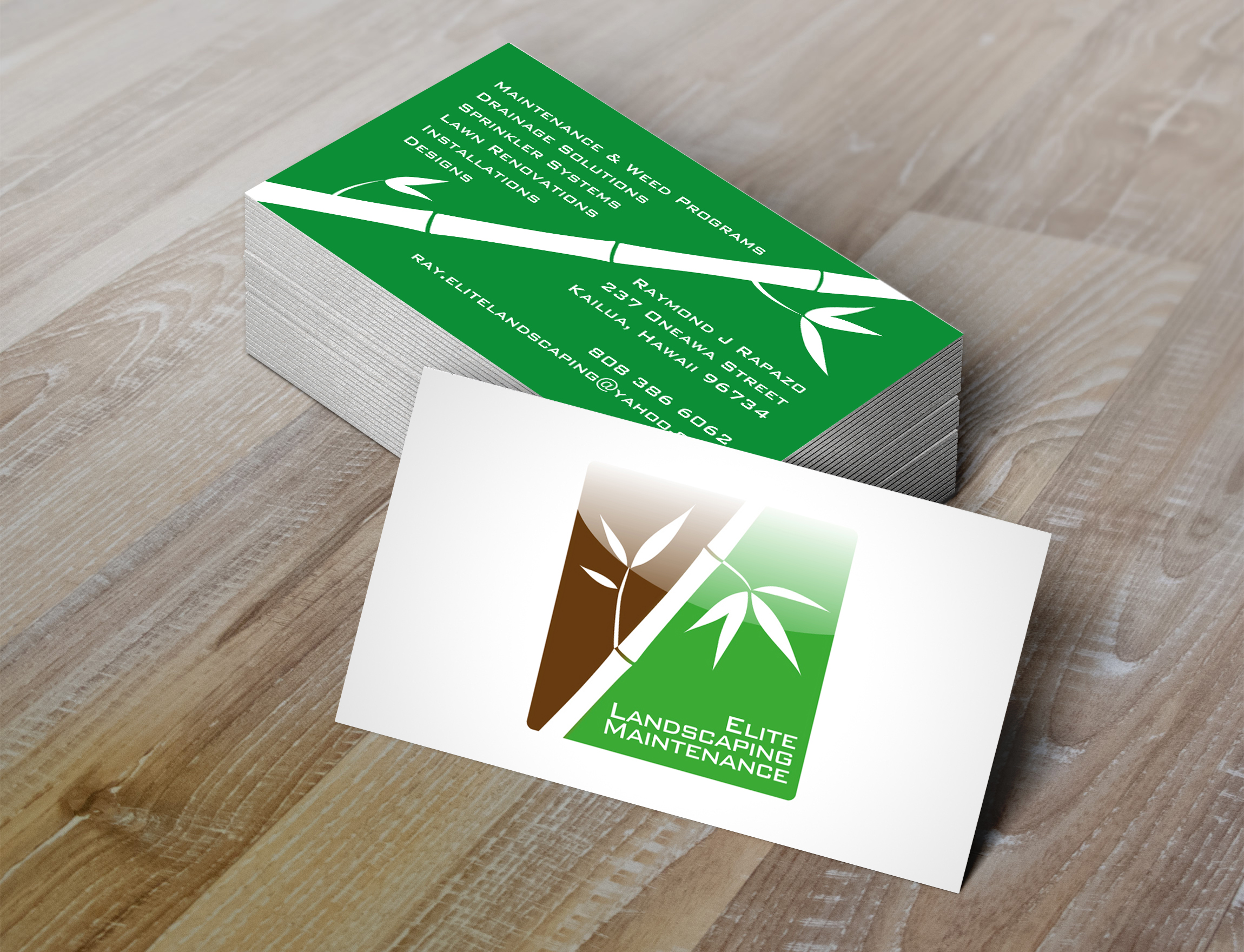 Business Card for Elite Landscape