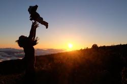Son & Mom at Haleakala Sunrise, Maui