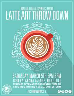 Latte Art Throw Down Poster