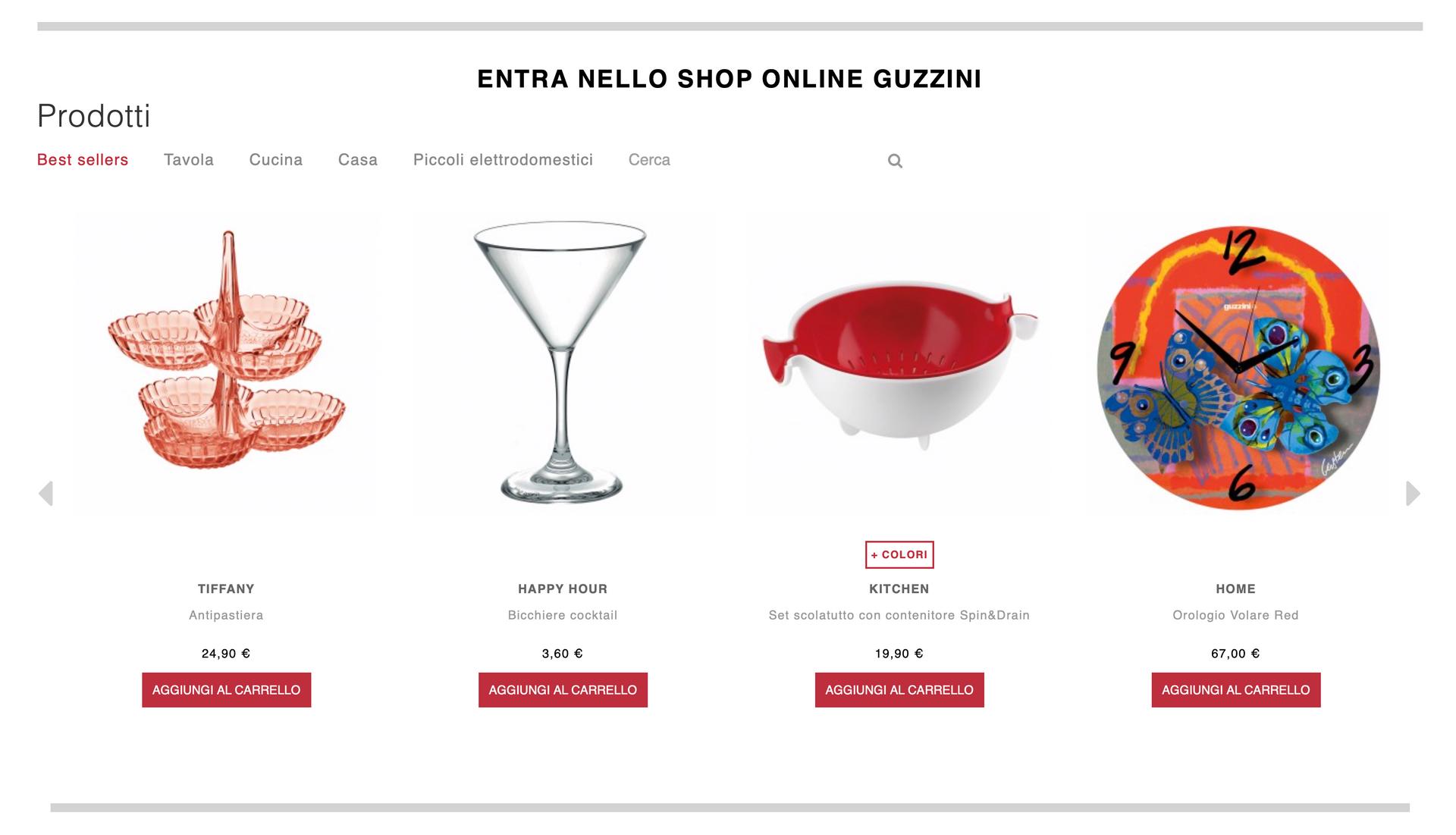 Guzzini web site
