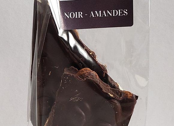 Éclats chocolat noir -amandes / Dark chocolate shards - almonds