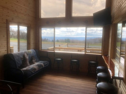 Wolf Cabin front window view