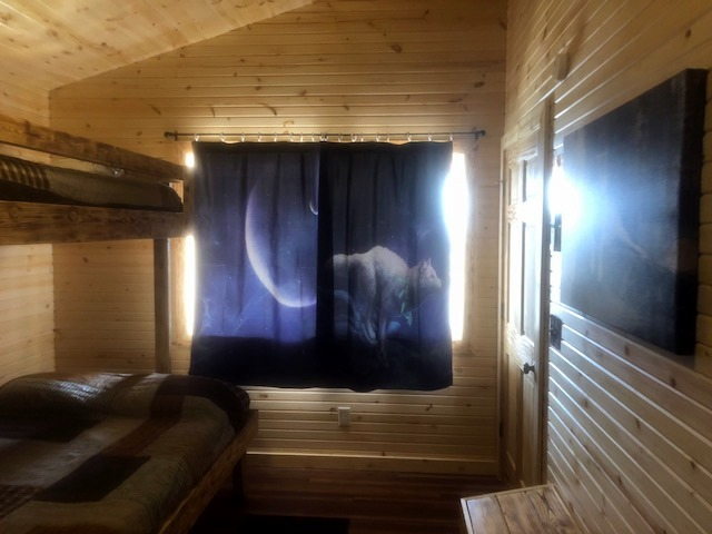 Wolf Cabin bunk room window