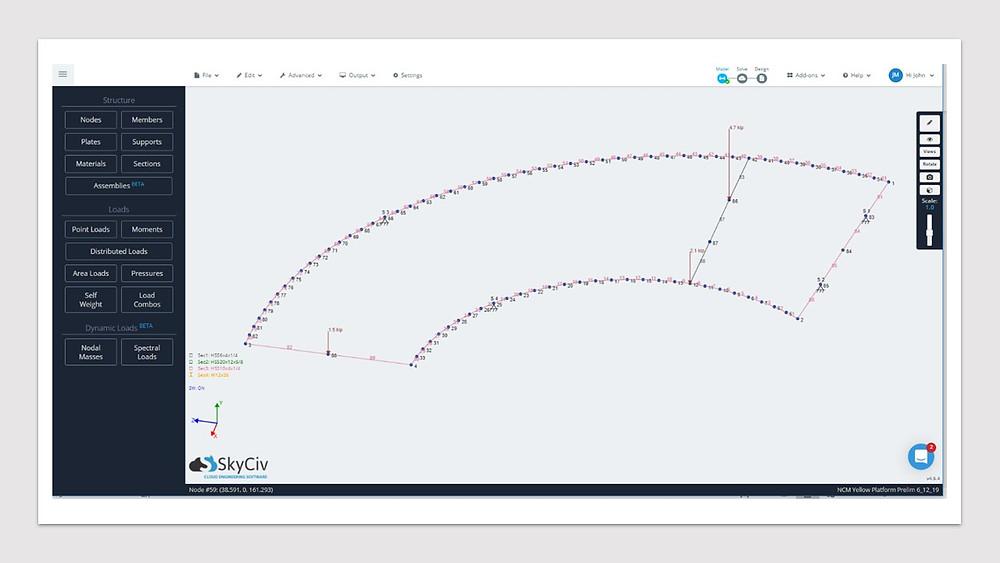 SkyCiv dream machine rendering
