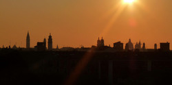 Venice skyline sunrise