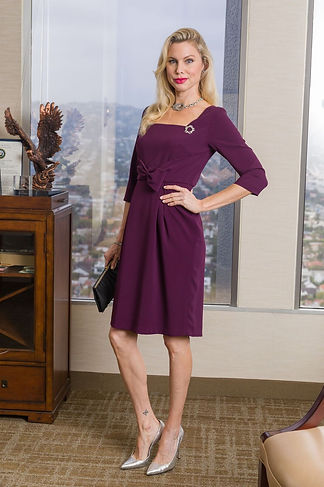 Womens Work Dress With Sleeve