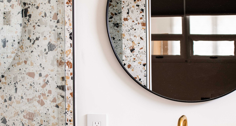 Custom Terrazzo Tiled Shower
