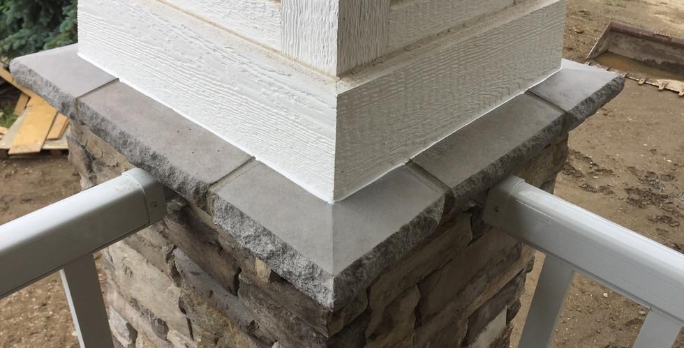 Exterior stone siding