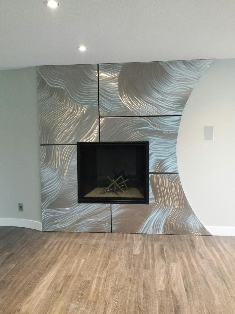 Custom Metal Fireplace Surround
