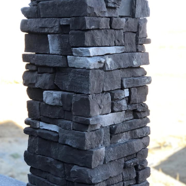 Exterior stone columns