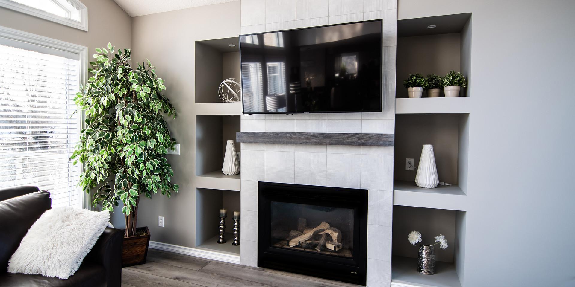 Tiled fireplace, Regina SK