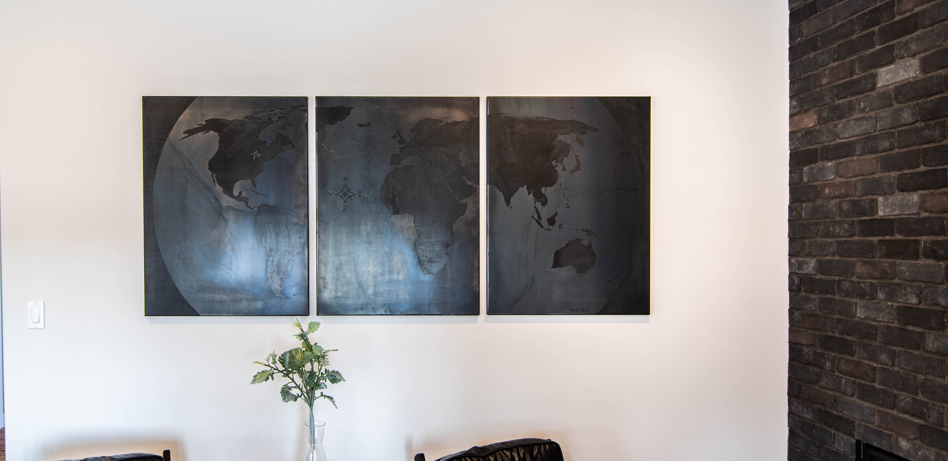 World Map, Vertical Panels