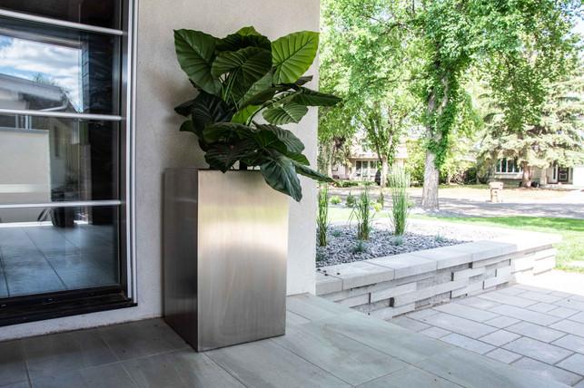 custom made stainless steel planter