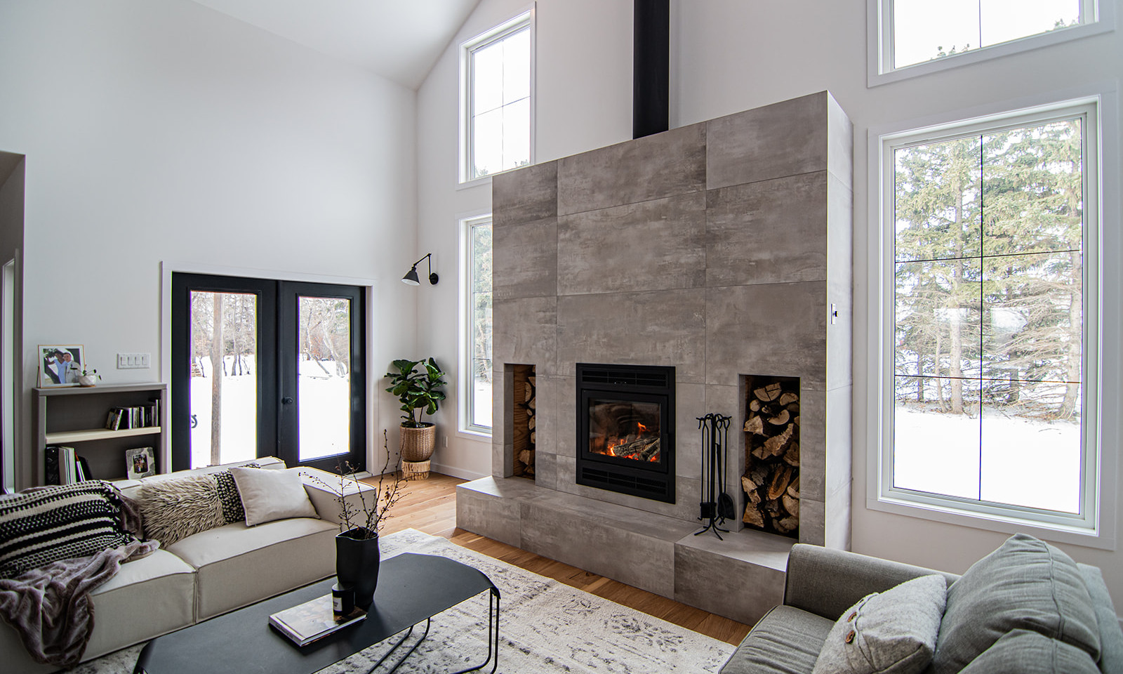 Fireplace in modern new build