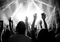 Crowd of people at concert - arms in the air