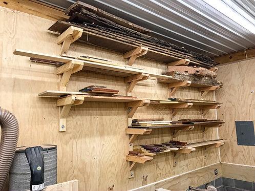 DIY Lumber Rack