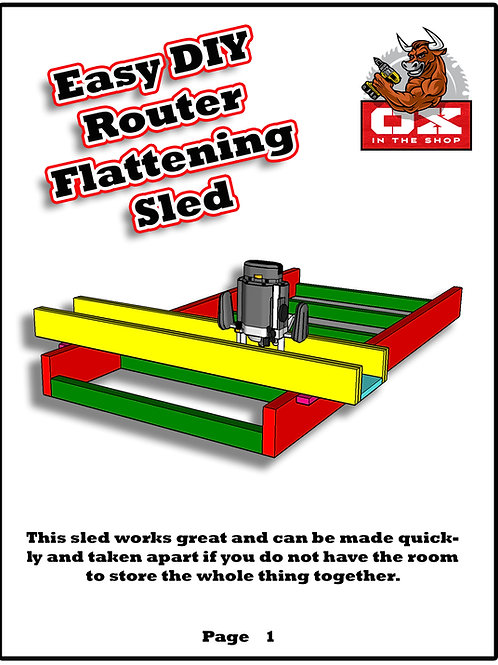 Easy DIY Router Flattening Sled