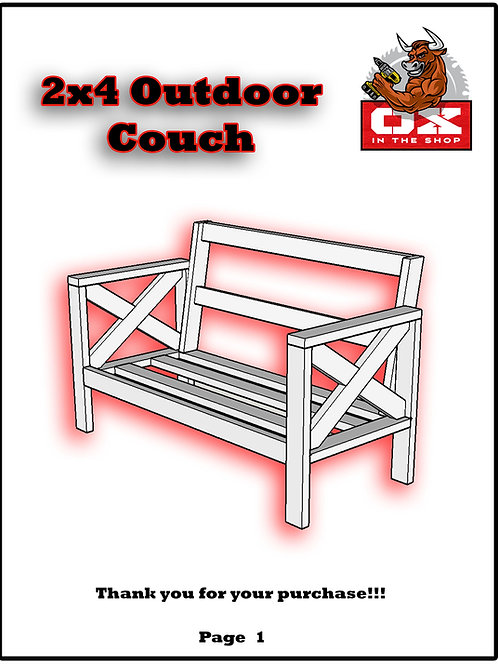 2x4 Outdoor Couch