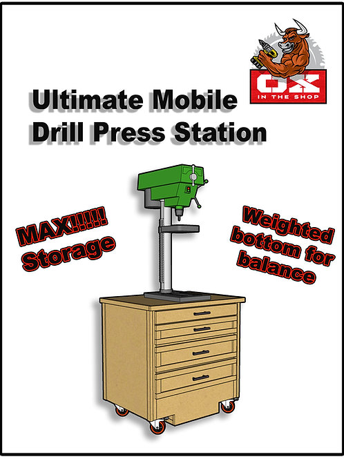 Ultimate Mobile Drill Press Stand