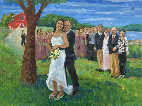 Live Wedding Painting Montana Wyoming