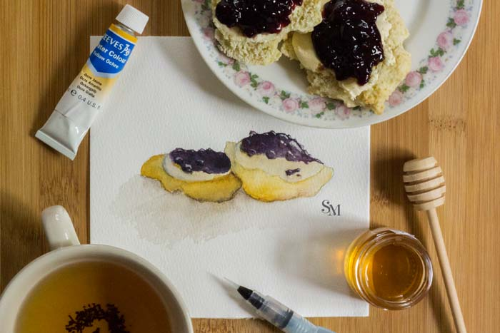Watercolor-Confections_Scones