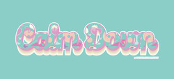 Calm Down Typography with Illustrated Pattern