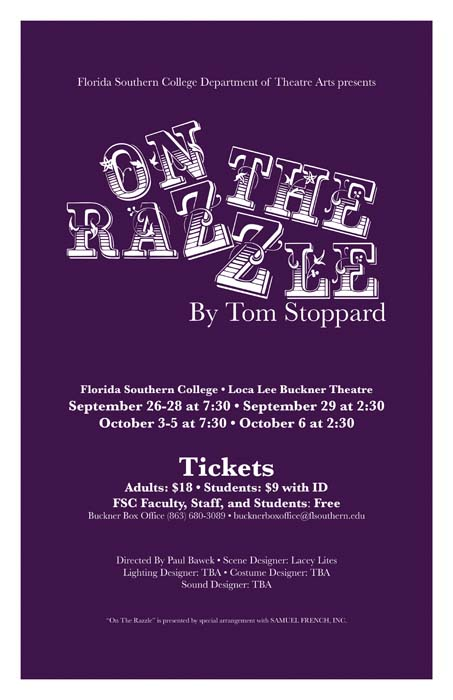 On The Razzle Theatre Poster