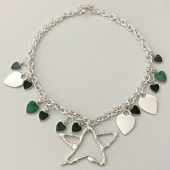 Malachite Charm Necklace
