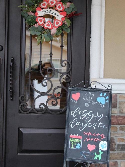 Doggy daycare chalkboard