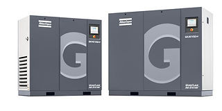 Oil-Injected, Contact cooled, rotary screw air compressor