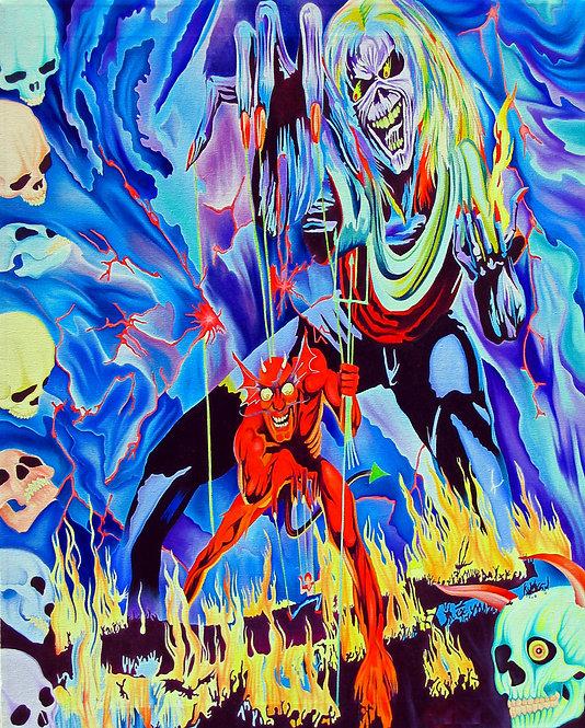 Iron Maiden Oil Painting