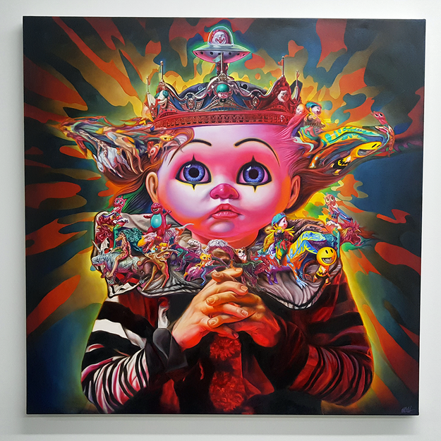 Ron English at the Beyond the Streets Graffiti Exhibition Los Angeles 2018