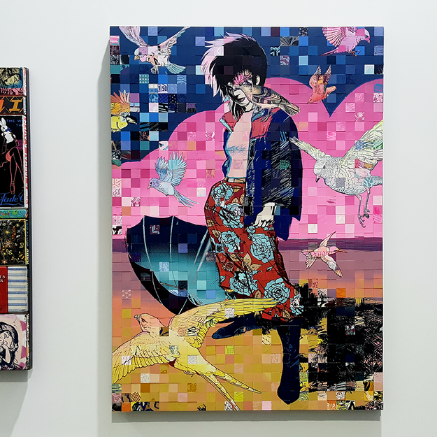 FAILE at the Beyond the Streets Graffiti Exhibition Los Angeles 2018