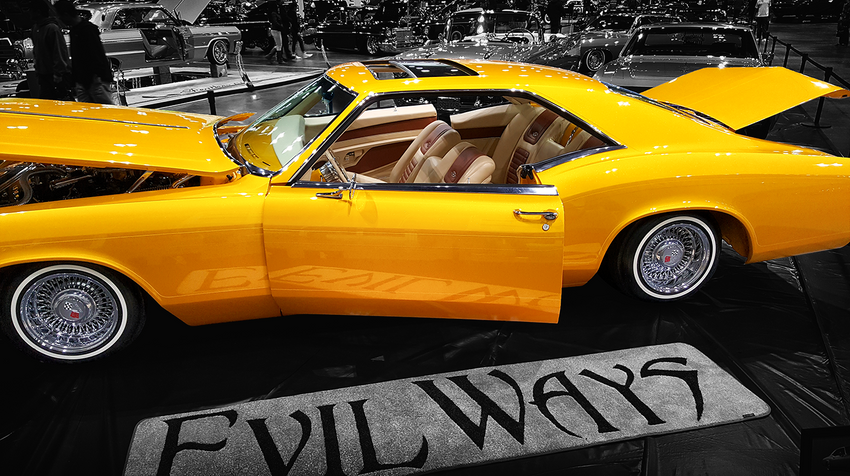 Classic Gold Evil Ways Lowrider with Adobe Post-Production