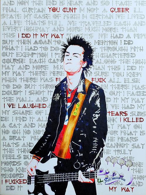 Sid Vicious Acrylic Painting