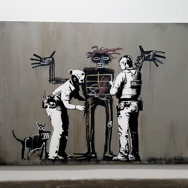 Banksy at the Beyond the Streets Graffiti Exhibition Los Angeles 2018