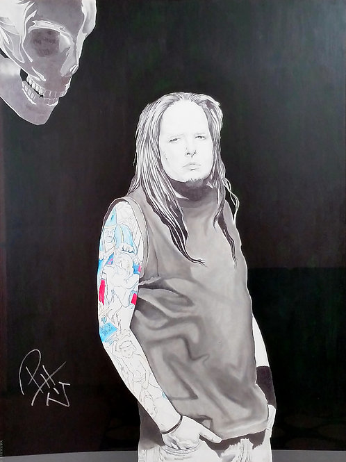 Signed Jonathan Davis KoRn Drawing